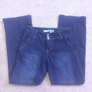 Dollhouse Trouser Jeans dark wash sz 7 length 32'